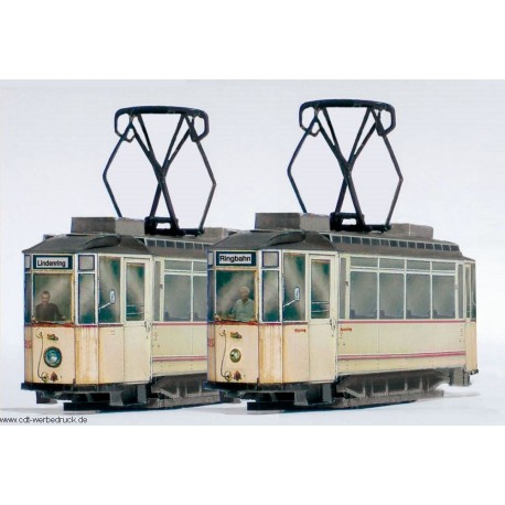 2 Lindner-Triebwagen der Naumburger Straßenbahn