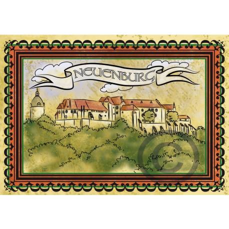 """Kinder-Klappkarte """"Schloss Neuenburg"""""""
