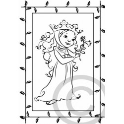 """Kinder-Ausmalkarte """"Maid Lilia"""""""