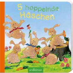 5 hoppelnde Häschen (5er Mini) (Deutsch) Pappbilderbuch