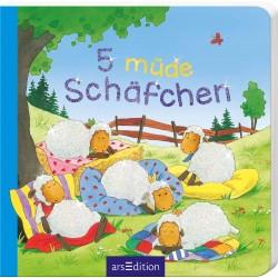 5 müde Schäfchen (5er Mini) (Deutsch) Pappbilderbuch