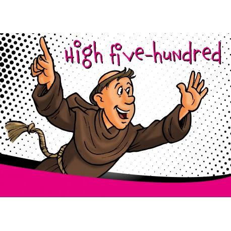 "Postkarte ""High five-hundred"""