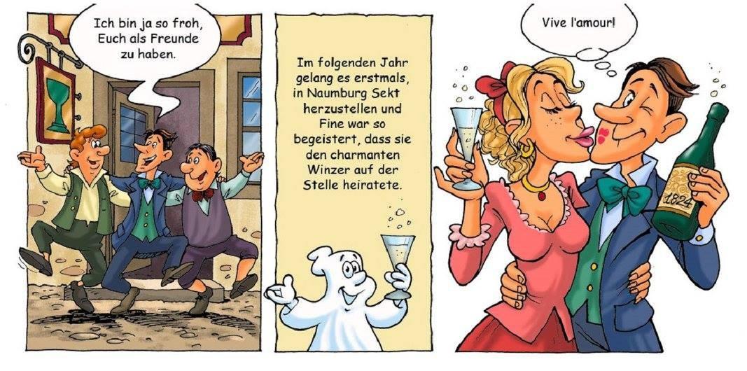Comic mit Sagen und Geschichten aus Naumburg