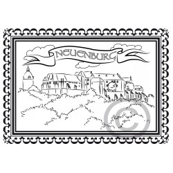 """Kinder-Ausmalkarte """"Schloss Neuenburg"""""""